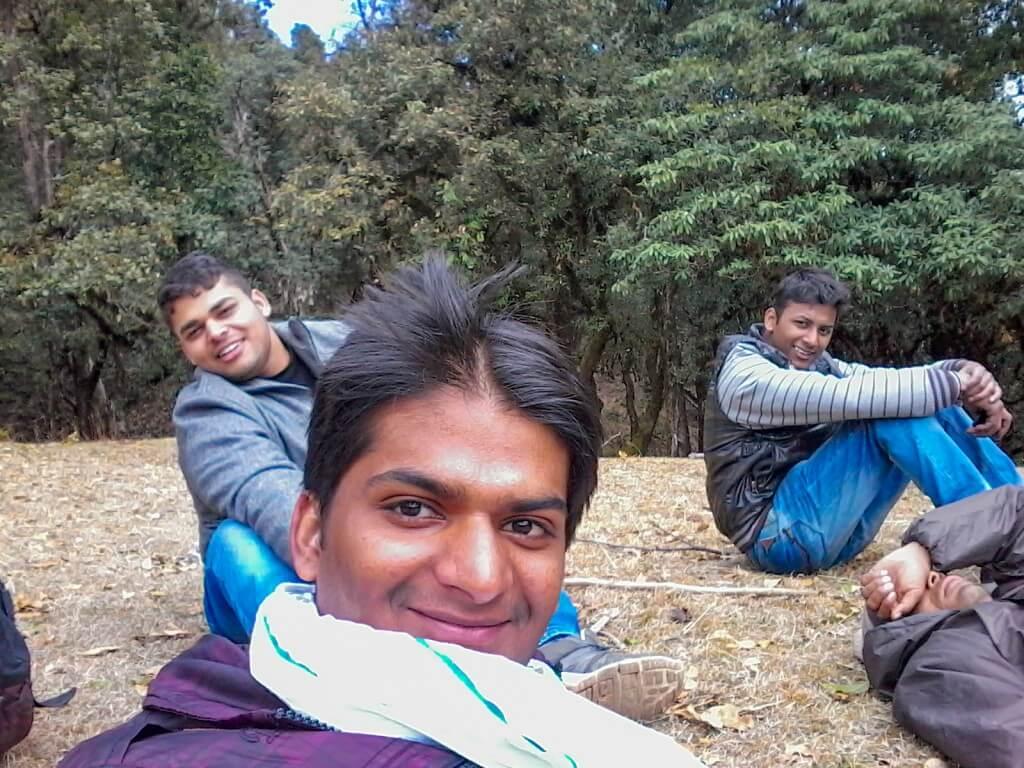While resting at Nag Tibba Base Camp