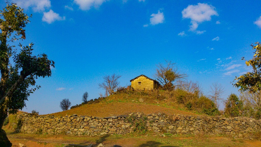 Somewhere near the goat village
