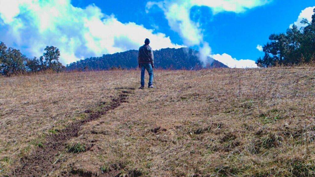 while climbing towards Nag tibba summit