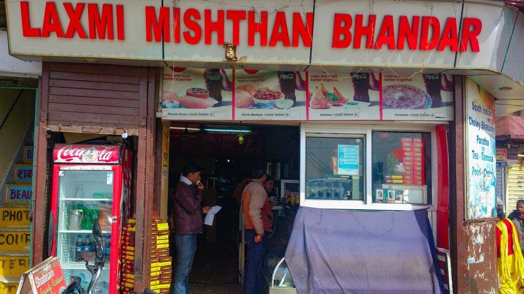 Laxmi Mishthan Bhandar at Mussoorie Library Chowk