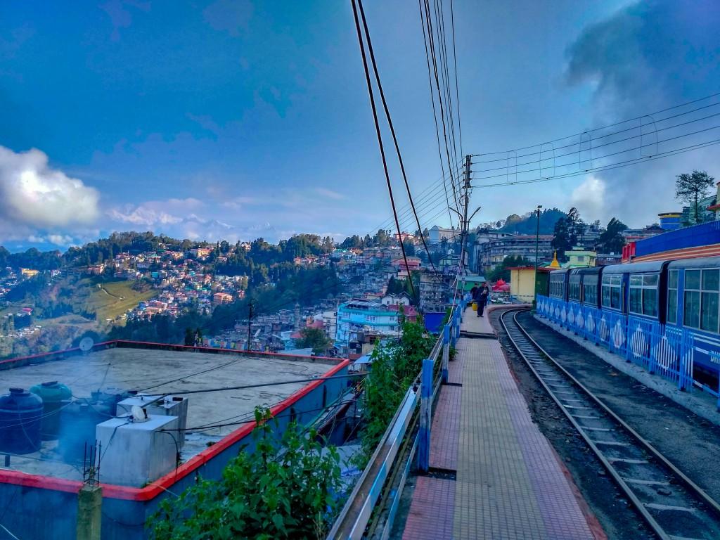 View from Darjeeling Railway Station  - Places to visit in Darjeeling