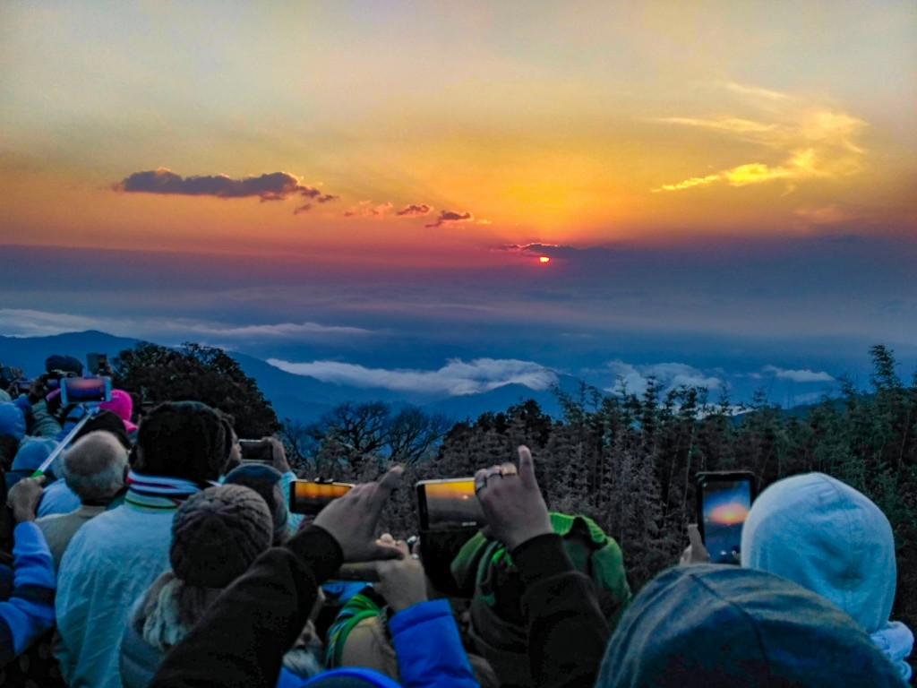 Mesmerising Sunrise seen from Tiger Hill at Darjeeling