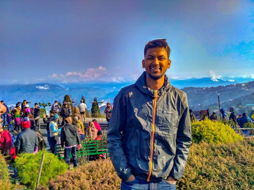Me, standing at Batasia loop, Darjeeling