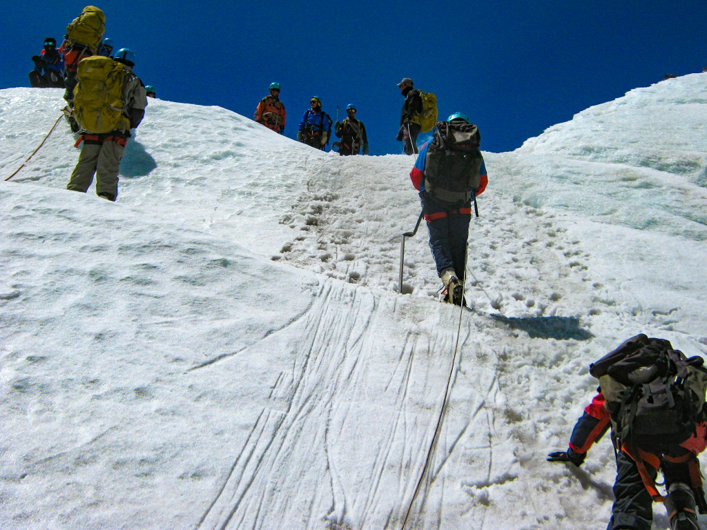 Glacier Training at HMI Basecamp in Sikkim