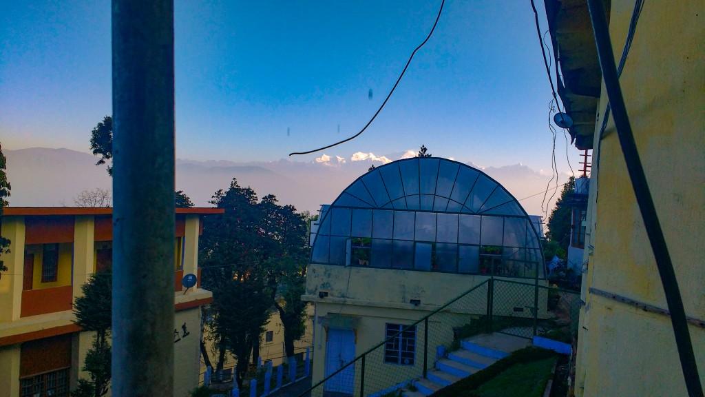 Kanchenjhunga visible from HMI Campus
