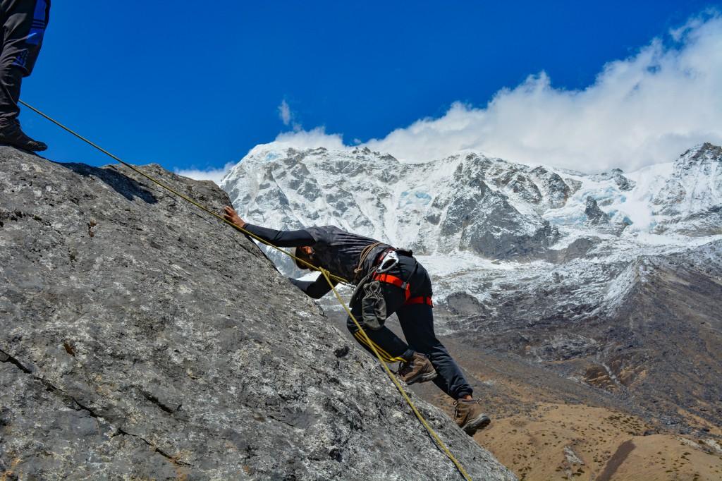 Sequence Climbing at HMI Base Camp