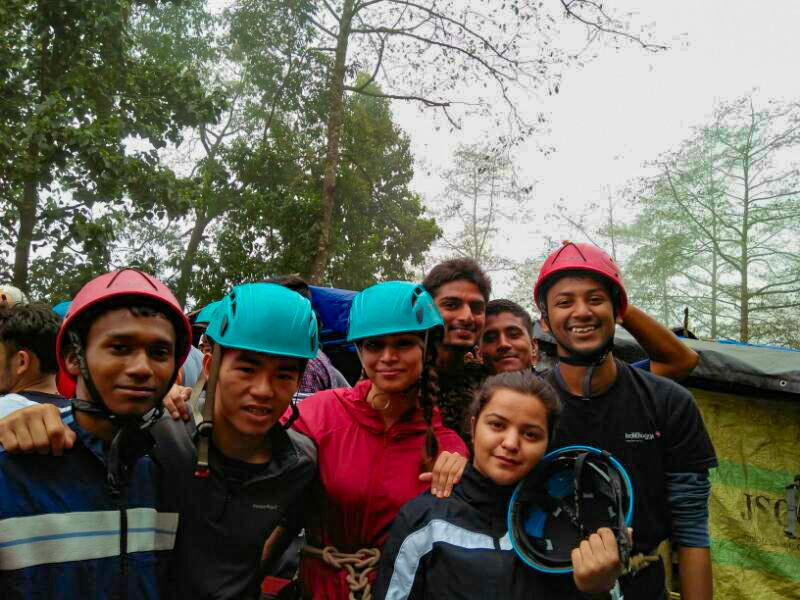 Rope 7 at Tenzing Rock - Basic Mountaineering Course HMI