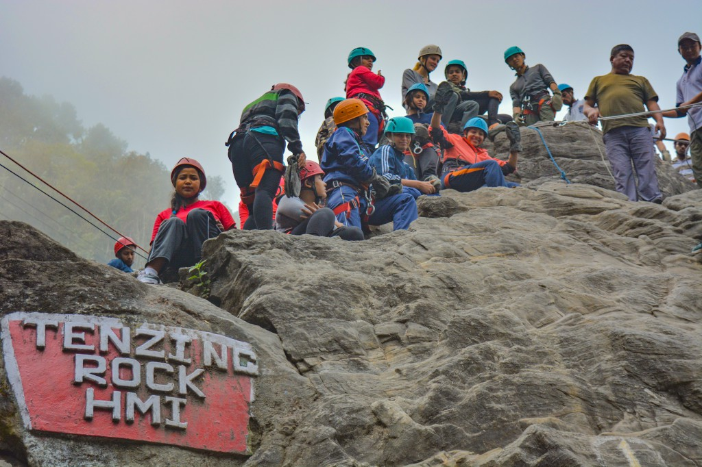 Rock Climbing and Rappelling Session at Tenzing Rock, Darjeeling