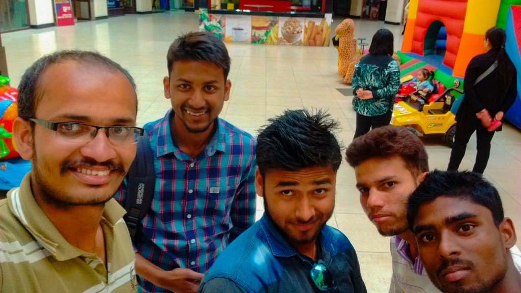 Our group at Big Bazaar to do some shopping