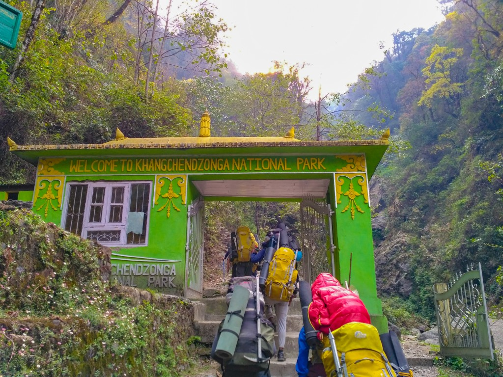 Entering the Khangchendzonga National Park