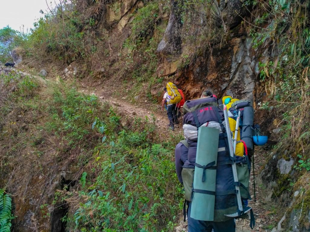 Inital trail of the trek - Trek to HMI Base Camp