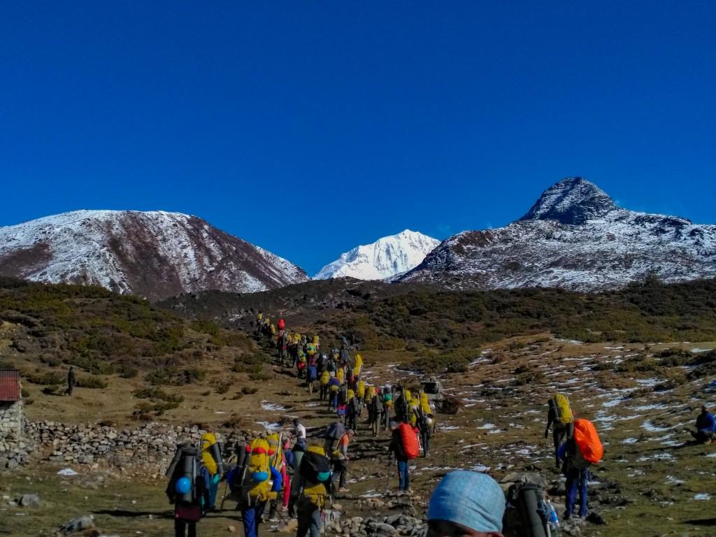 Approaching towards Dzongri La