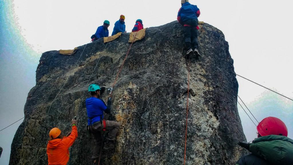 While doing Double Jumaring - Glacier Training at HMI