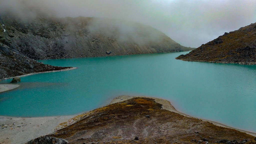 Dudhpokhri, a small glacial lake situated at the Advance Base Camp