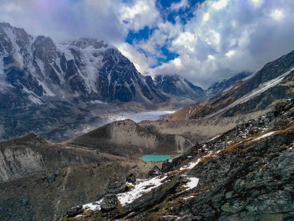 View while climbing the BC Roy Peak - Glacier Training at HMI