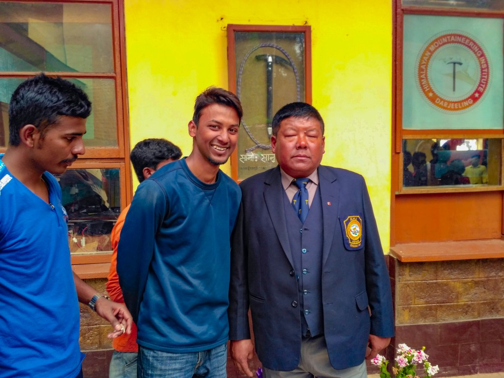 One with the chief instructor, Lakpa Sir - HMI Darjeeling