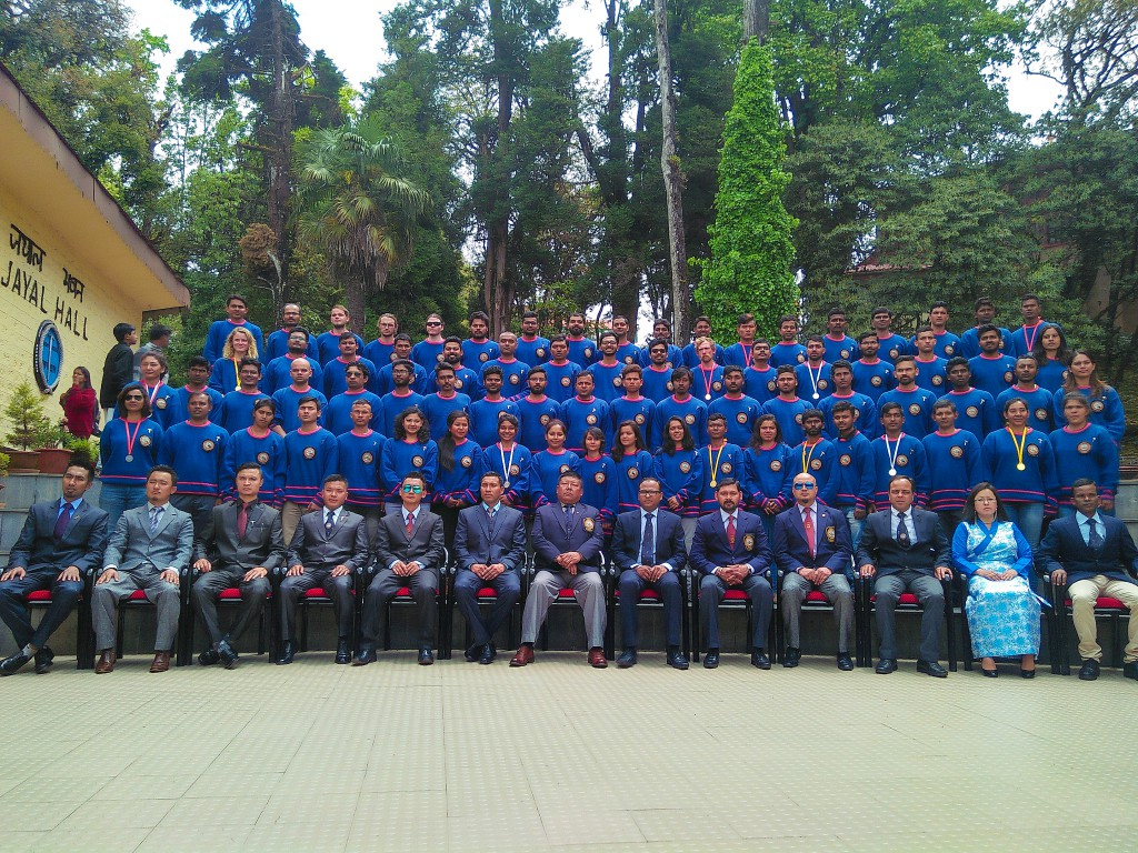 Formal photo of the entire batch on the graduation ceremony day - HMI Darjeeling