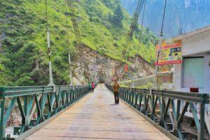 A bridge over Alaknanda river at Govindghat