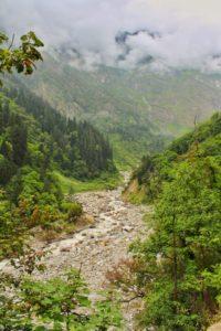 Scenic valley near Bhyundar village