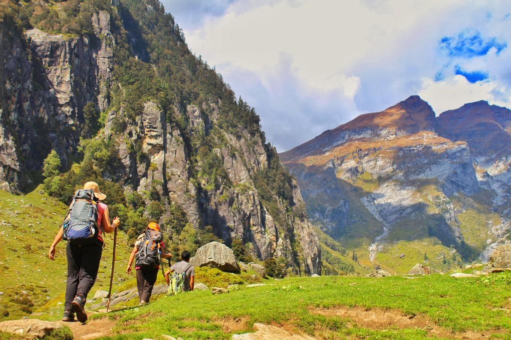 trekking towards chika