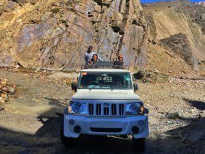 While driving back to Chattru from Chandratal - Hampta Pass Trek