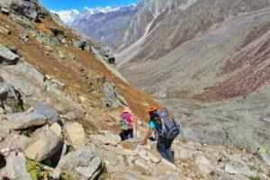 While descending towards Sheagoru Campsite - Hampta Pass Trek