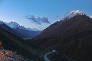 While driving towards Chandratal Lake - Hampta Pass Trek