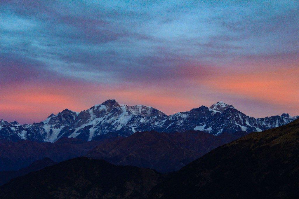 Kedarnath Peak during Sunrise - Deoriatal Chandrashila Trek