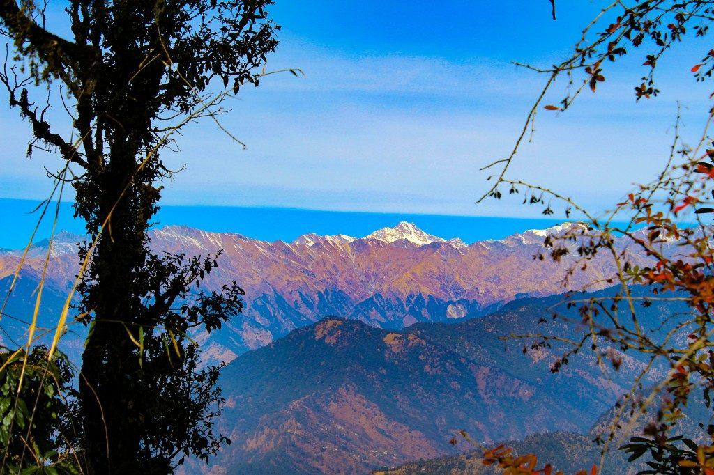 View from Jhandi top - Deoriatal Chandrashila Trek