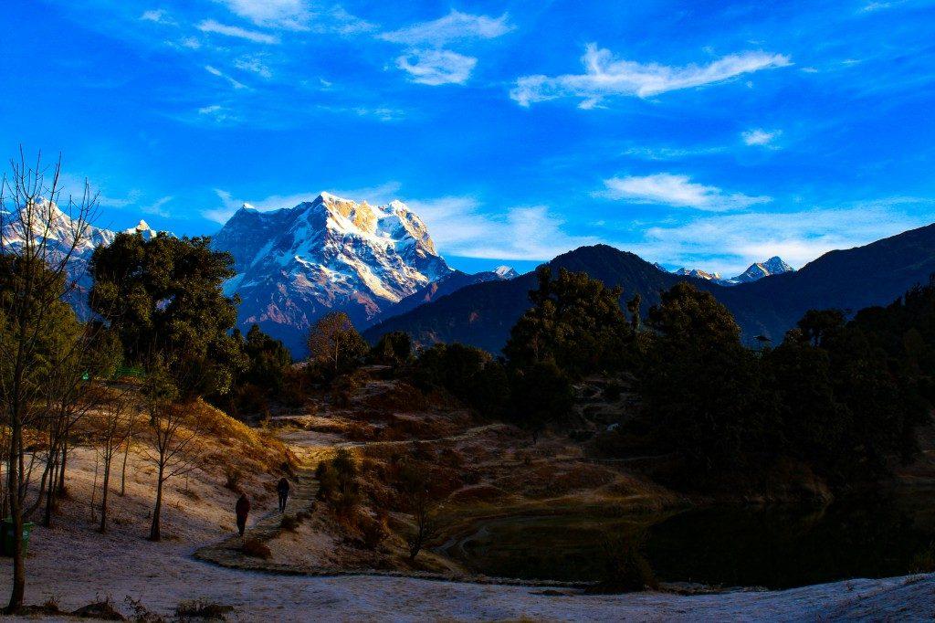 View of Chaukhamba Massif - Deoriatal Chandrashila Trek