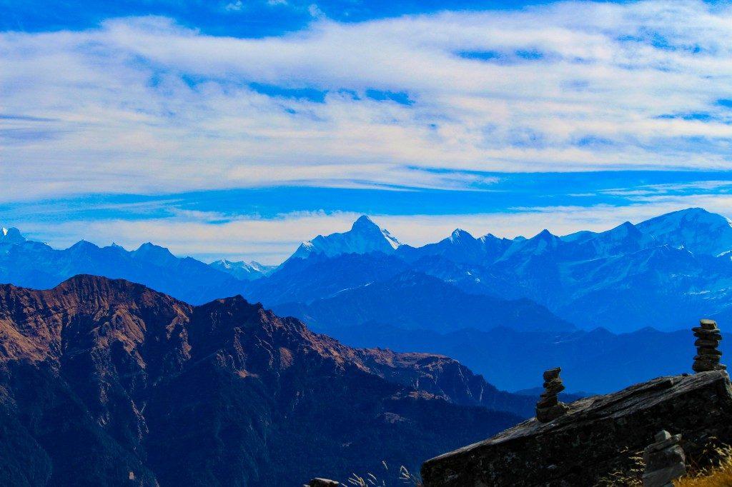 View of Nanda Devi Peak from Chandrashila Summit - Deoriatal Chandrashila Trek