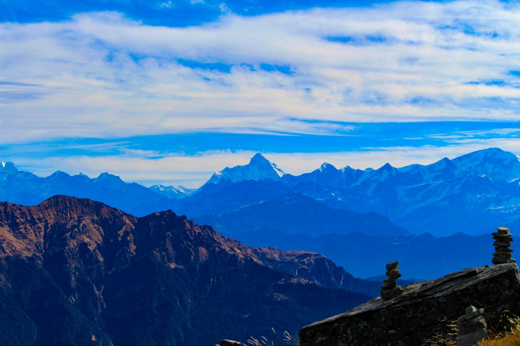 View of Nanda Devi Peak from Chandrashila Summit - Deoriatal Chandrashila Trek