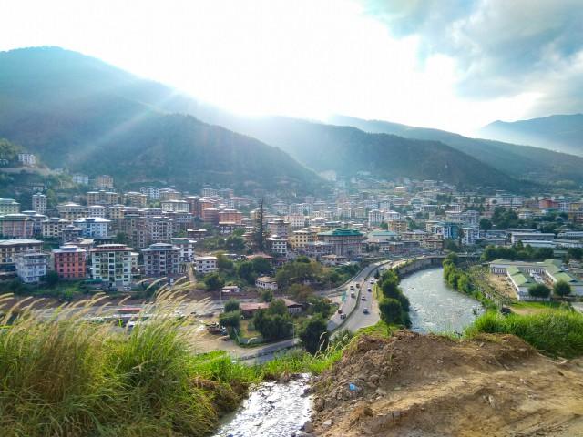 View of Thimphu City - Trip to Bhutan