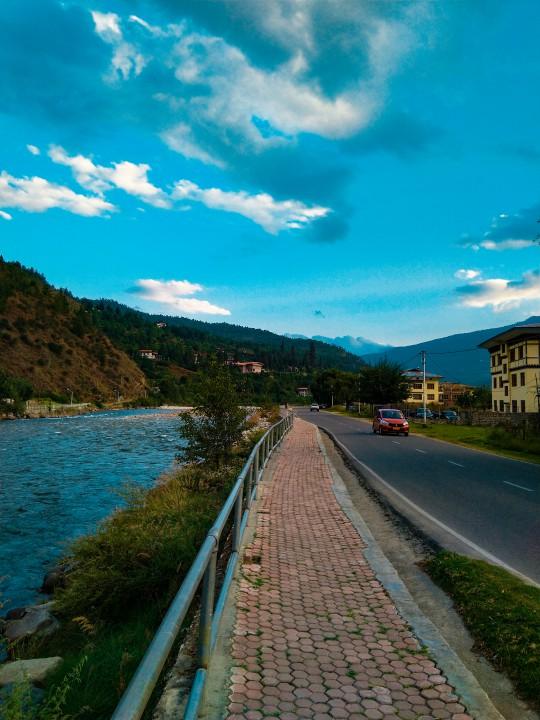View of Paro Chu river - Trip to Bhutan