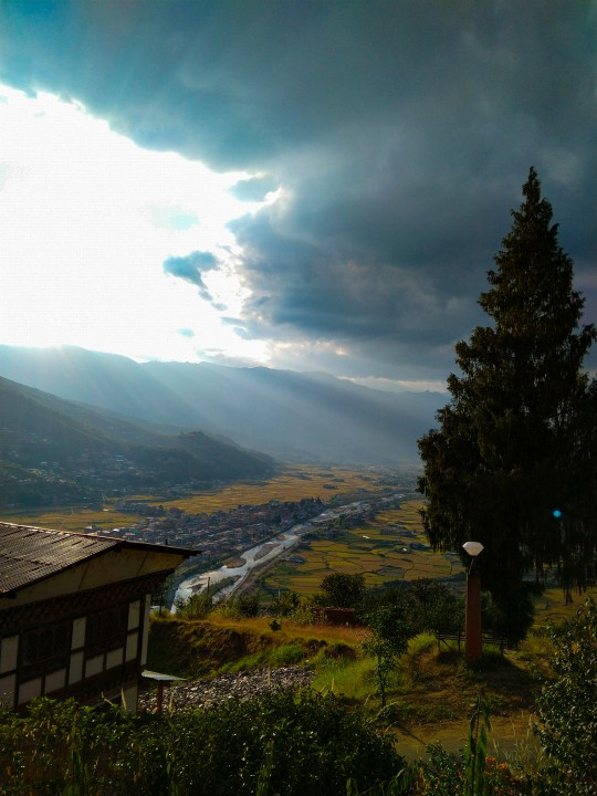 View of Paro town from National Museum - Trip to Bhutan