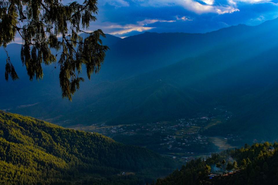 View of Paro from Tiger's Nest trek - Trip to Bhutan