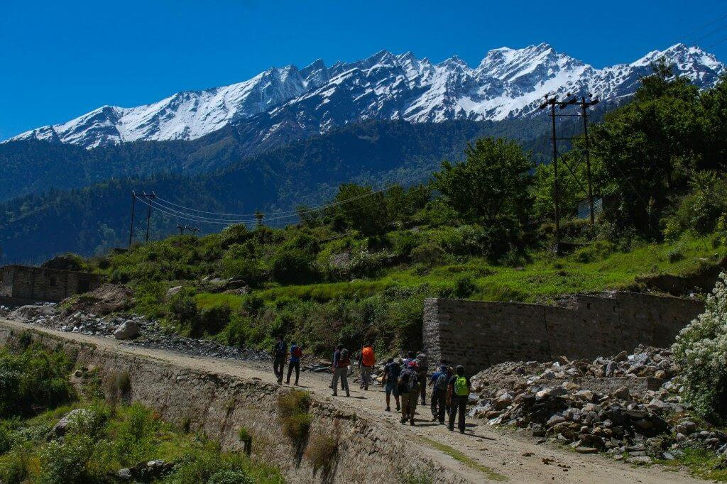 starting the trek from Dhak village - Pangarchulla Peak Trek