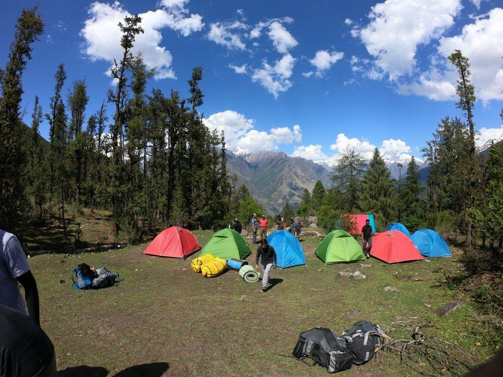 Campsite at Gulling top - Pangarchulla Peak trek
