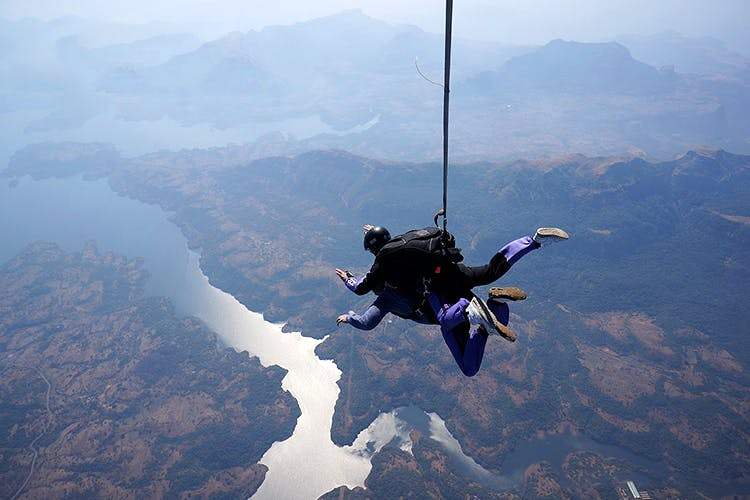 Sky Diving in Aamby Valley, Maharashtra