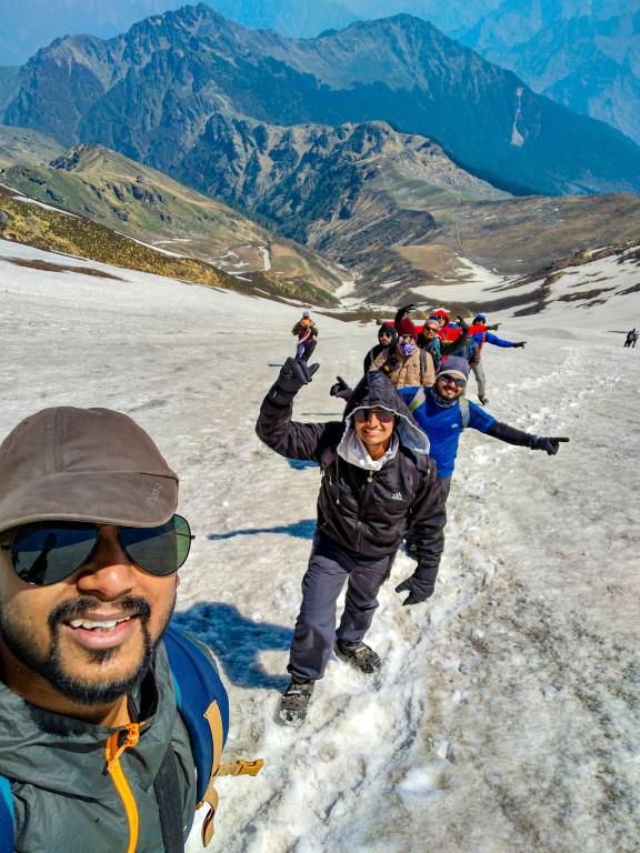 While climbing the summit - Pangarchulla Peak