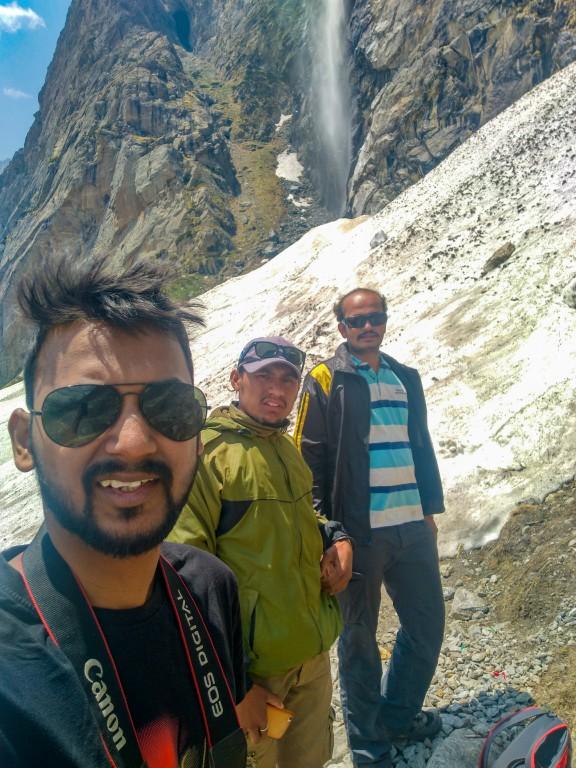 Me, Laxman Bhaiya & Manas - Vasudhara Falls Trek