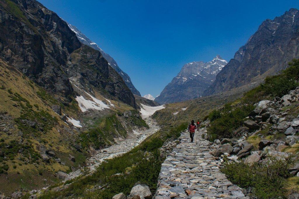 Trail to Vasudhara Falls - Vasudhara Falls Trek