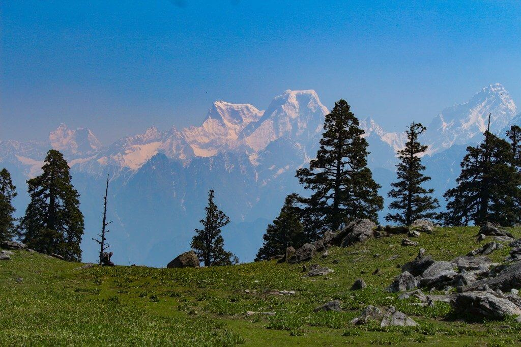 Hathi Godha peak seen from Khullara - Pangarchulla Peak
