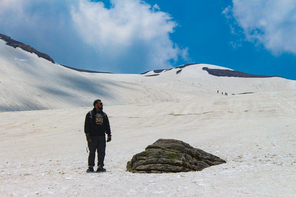About to reach the summit - Pangarchulla Peak