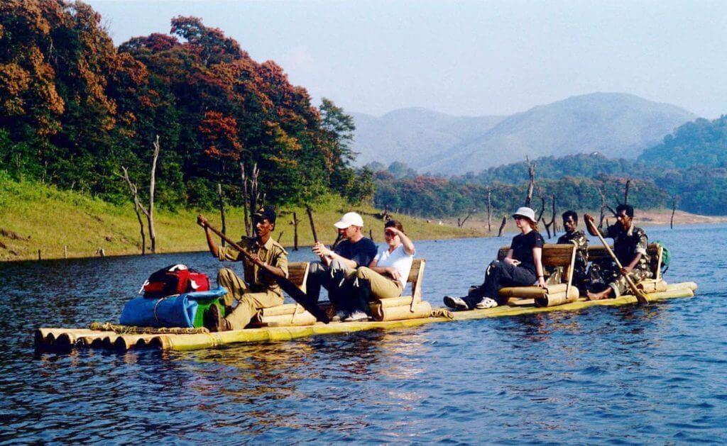 Bamboo RIver Rafting in Periyar River in Kerala