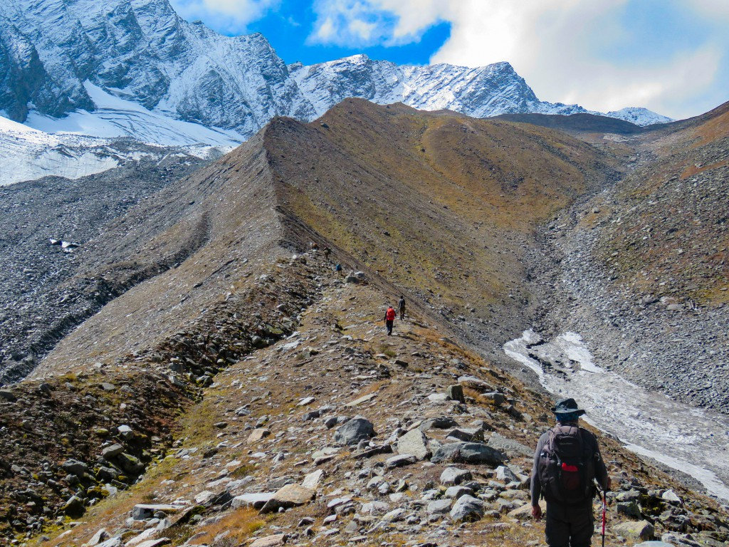 Approaching towards the steep ridge - Bali Pass Trek