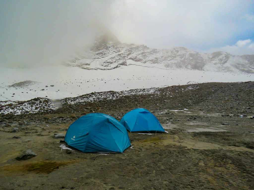 Weather getting changed at the base camp - Bali Pass Trek