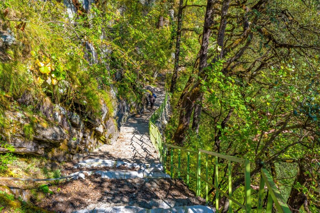 Paved Trail to Yamunotri Temple - Bali Pass Trek