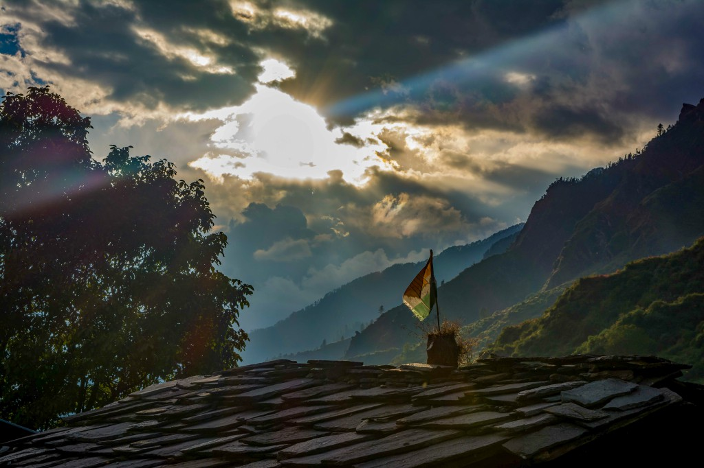 Sunset from Seema Village - Bali Pass Trek