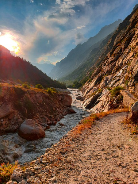 Scenic Bhagirathi Valley